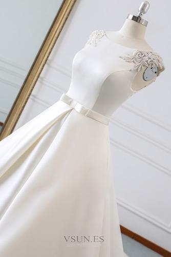Vestido de novia Invierno Iglesia Cola Barriba Falta Espalda Descubierta - Página 5