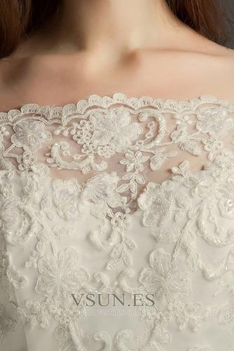 Vestido de novia Elegante Cremallera Escote con abertura Natural Encaje - Página 3