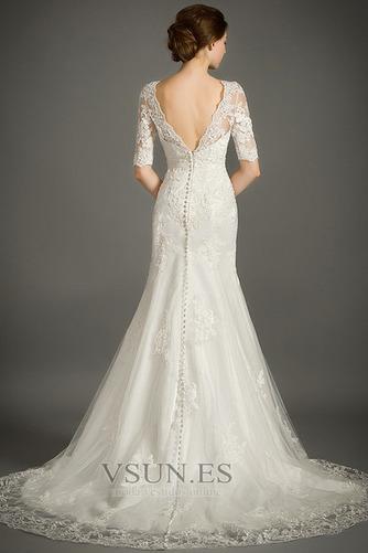 Vestido de novia Encaje Cremallera Triángulo Invertido Sala Corte Sirena - Página 2