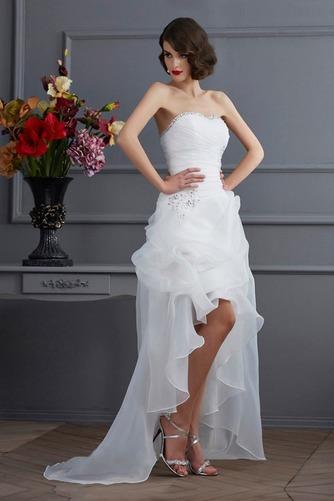 Vestido de novia Sin mangas Dobladillos Cintura Baja Escote Corazón - Página 3