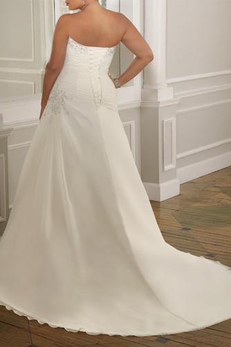 Vestido de novia Gasa Plisado Corte-A Cordón Sala Cintura Baja - Página 3