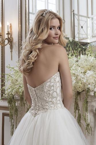 Vestido de novia Colores Fuera de casa Abalorio Espalda Descubierta - Página 4