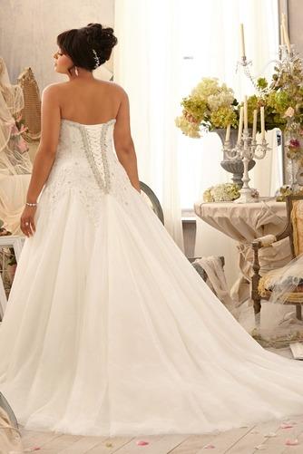 Vestido de novia Abalorio Escote Corazón Iglesia largo Cordón Natural - Página 2