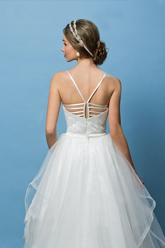 Vestido de novia Corte Recto Espalda Descubierta Glamouroso Escote de Tirantes Espaguetis - Página 5