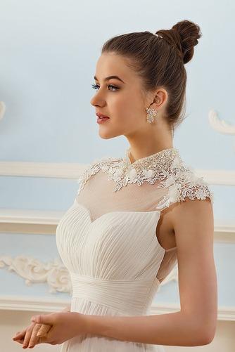 Vestido de novia Elegante Escote con cuello Alto Espalda medio descubierto - Página 3