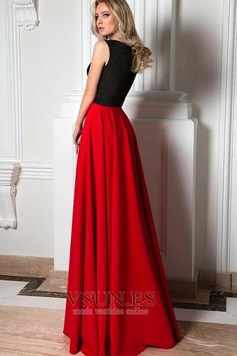 Vestido de noche Formal Falta Cremallera Escote en V Oscilación Corte-A - Página 2