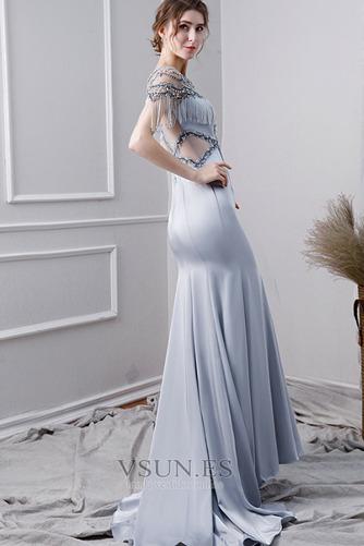 Vestido de noche Elegante Corpiño Acentuado con Perla Natural Satén - Página 2
