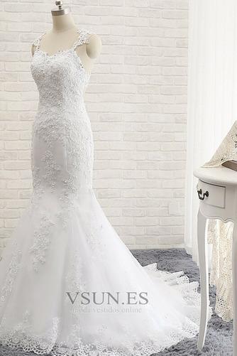Vestido de novia Romántico Abalorio Espalda Descubierta Otoño Natural - Página 4