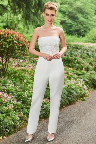 Vestido de novia Triángulo Invertido Otoño Sin tirantes Corte-A tul - Página 6