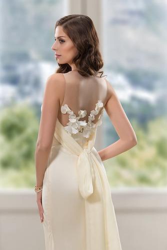 Vestido de novia Corte Sirena Natural Cola Barriba Flores Pura espalda - Página 4