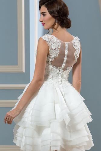 Vestido de novia Informal Verano Corte-A Oscilación Pura espalda Organza - Página 4