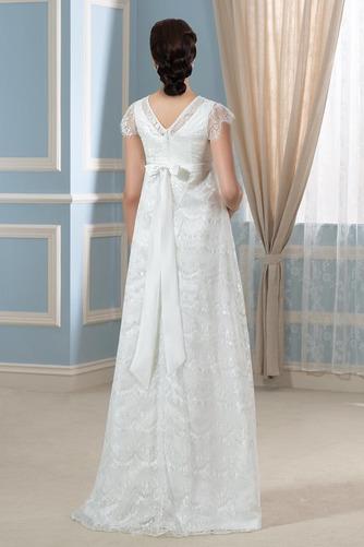 Vestido de novia Romántico Embarazadas Otoño Encaje Cremallera Hasta el suelo - Página 3