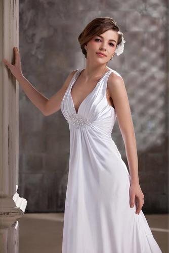 Vestido de novia Satén Hasta el suelo Dobladillos Espalda Descubierta - Página 4