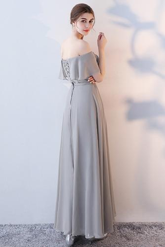 Vestido de dama de honor Natural Corte-A Blusa plisada Escote en V Sin mangas - Página 10