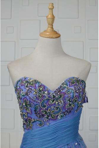 Vestido de quinceañeras Corpiño Acentuado con Perla Triángulo Invertido Dobladillos - Página 3