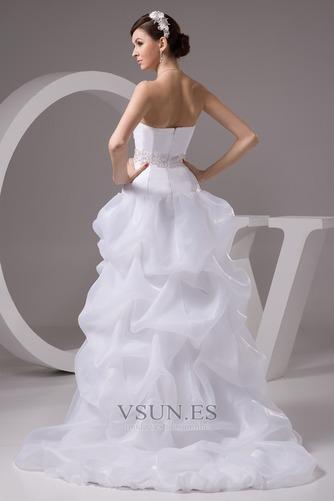 Vestido de novia Playa Falta Cintura Baja Asimètrico Espalda Descubierta - Página 2