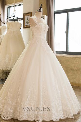 Vestido de novia Falta Iglesia Hasta el suelo Encaje Corte princesa - Página 3