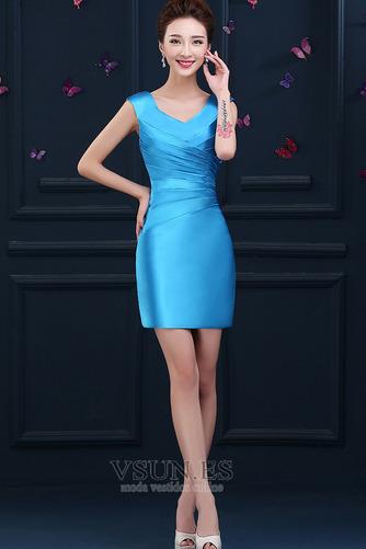 Vestido de cóctel primavera Falta Blusa plisada Glamouroso Plisado Cremallera - Página 1