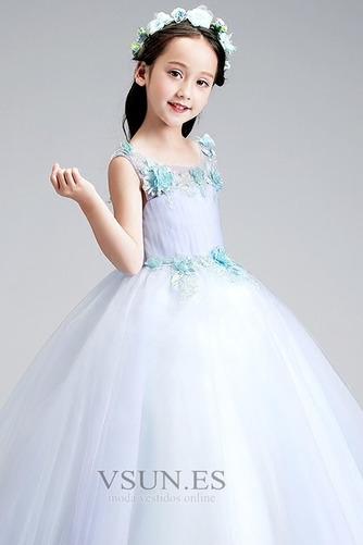 Vestido niña ceremonia Corte-A Cremallera Falta Natural Sin mangas Rosetón Acentuado - Página 5
