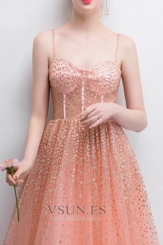 Vestido de fiesta Corte-A Escote Corazón Natural Hasta el Tobillo Sin mangas - Página 4