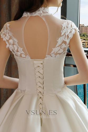 Vestido de novia Capa de encaje Encaje Apliques Escote con cuello Alto - Página 3