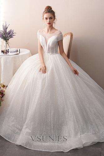 Vestido de novia Colores Sin mangas Estrellado Otoño Corte-A Hasta el suelo - Página 4