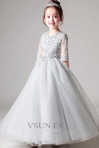 Vestido niña ceremonia primavera Falta Formal Hasta el Tobillo Cremallera - Página 4