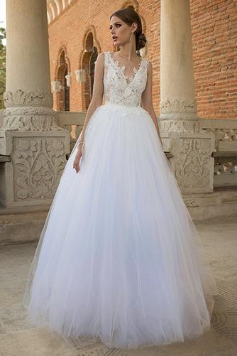 Vestido de novia Natural Encaje Espalda medio descubierto Playa Apliques - Página 1