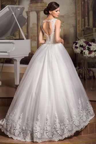 Vestido de novia Cordón Apliques Joya largo tul Natural - Página 2