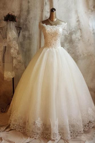 Vestido de novia Invierno Iglesia Clasicos Natural Encaje Abalorio - Página 1