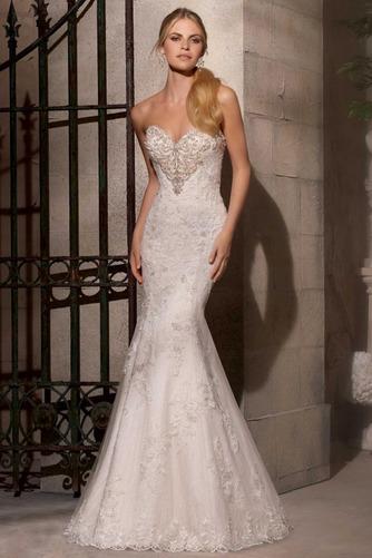 Vestido de novia Espectaculares Sala Escote Corazón largo Sin mangas - Página 1