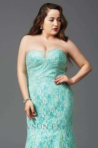Vestido de noche Elegante Cremallera Rectángulo Sin tirantes Capa de encaje - Página 4