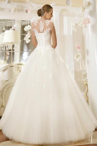 Vestido de novia Cintura Baja Cola Barriba Iglesia Cordón Corte-A Con Chaqueta - Página 2