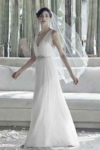 Vestido de novia Sencillo Sin mangas Espalda medio descubierto Fajas - Página 3
