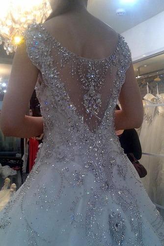 Vestido de novia Iglesia Pura espalda Corte princesa Natural tul Otoño - Página 4