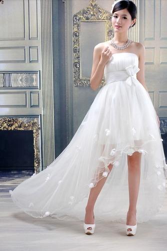 Vestido de novia Sin tirantes Verano Cola Barriba Asimètrico Fuera de casa - Página 2