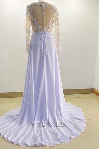 Vestido de novia Playa Mangas Illusion Manzana Corte-A Pura espalda - Página 6
