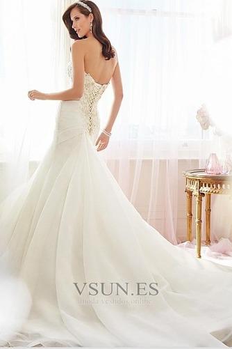 Vestido de novia Corte Sirena Cordón largo Apliques Sin mangas Moderno - Página 2