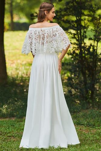 Vestido de novia Apliques Encaje Escote con Hombros caídos Tallas pequeñas - Página 2