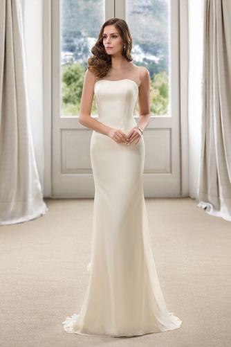 Vestido de novia Corte Sirena Natural Cola Barriba Flores Pura espalda - Página 1