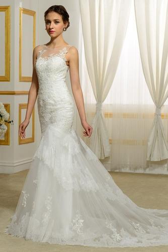 Vestido de novia Playa Invierno Barco Natural largo Tallas pequeñas - Página 3