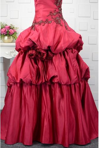 Vestido de quinceañeras Cola Barriba Corte-A Formal Plisado Triángulo Invertido - Página 6