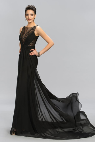 Vestido de noche Corte Sirena Cremallera Otoño Falta largo Gasa - Página 1