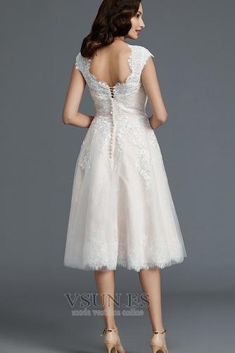 Vestido de novia Encaje Cremallera Verano Glamouroso Natural Falta - Página 2