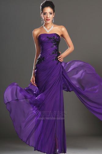 Vestido de noche Encaje Glamouroso Natural Frontal Dividida Apliques - Página 1