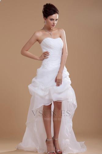 Vestido de novia informales Asimètrico Falta Blanco Espalda medio descubierto - Página 2