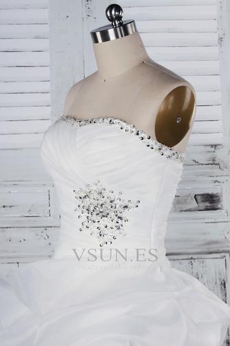 Vestido de novia Fuera de casa Exclusivo Plisado Asimétrico Dobladillo - Página 4