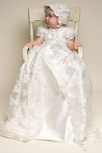 Vestido de Bautizo Joya Corte princesa Cola Barriba Recatada Imperio Cintura - Página 2