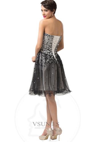 Vestido de graduacion primavera Cristal Escote Corazón Natural tul Cordón - Página 2