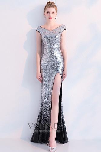 Vestido de fiesta Corte Sirena Hasta el Tobillo Tallas pequeñas Moderno - Página 5